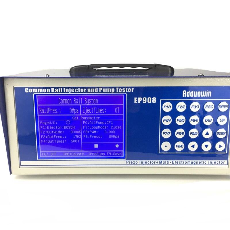 Prix pour EP908 Diesel Common rail injecteur testeur avec six électromagnétique/un piézoélectrique et testeur de pompe