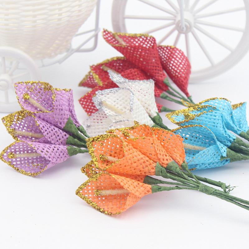 unidslote calla lirio de flores de seda pvc decoracin nupcial ramos de flores