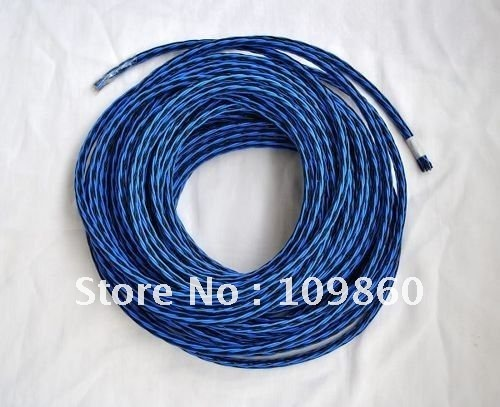 kable old 8TC audio hifi speaker cable speaker wires brand new black ...