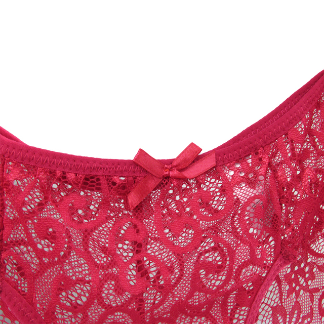 Mid Waist Full Lace Transparent Knickers