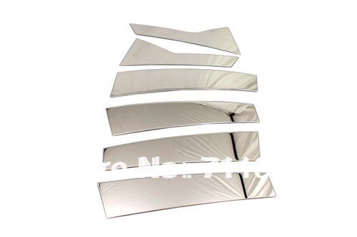 Brave Car Styling Chrome B-pillar Trim Cover Stainless Steel For Cadillac Srx Relieving Heat And Thirst.
