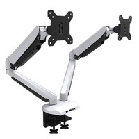 HONGHUA 15 27 Gas Spring Dual Monitor Holder Desktop Computer Mount Arm Stand Base With Audio and USB Port