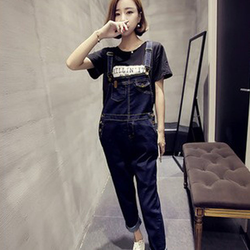 New Arrival Women Girls Top Quality Jumpsuits Denim Overalls Casual Full Length Plus Size Loose Pants Jeans new arrival women blue denim overall multi pocket suspender trousers sweet jeans jumpsuits for girls