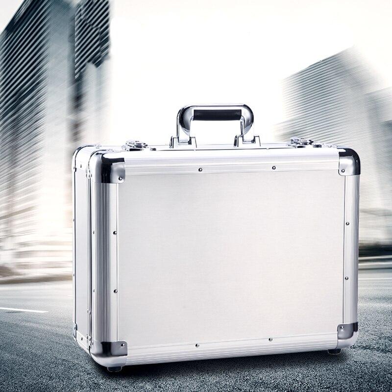 Porte-documents utilitaire de stockage en Aluminium transportant des outils à main boîtier de serrure accessoires organisateur boîte à outils de stockage étui de vol Portable