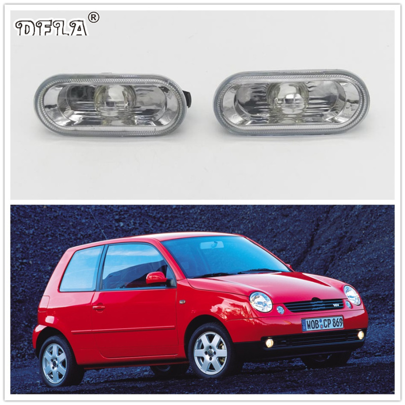 2pcs For VW Lupo 1999 2000 2001 2002 2003 2004 2005 2006 Car-Styling Side Marker Turn Signal Light Lamp Repeater jeazea glove box light storage compartment lamp 1j0947301 1j0 947 301 for vw jetta golf bora octavia 2000 2001 2002 2003 2004