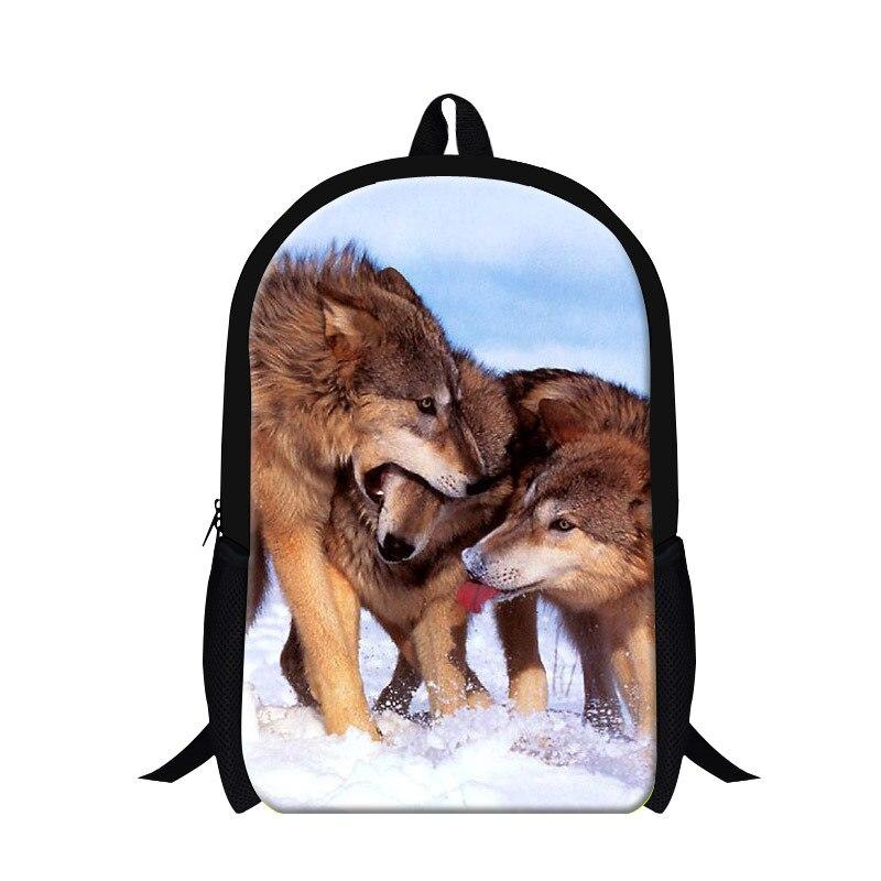 Stylish animal wolf backpacks for children kids,lightweight back pack for primary student,womens travling bag,mens cool bookbag