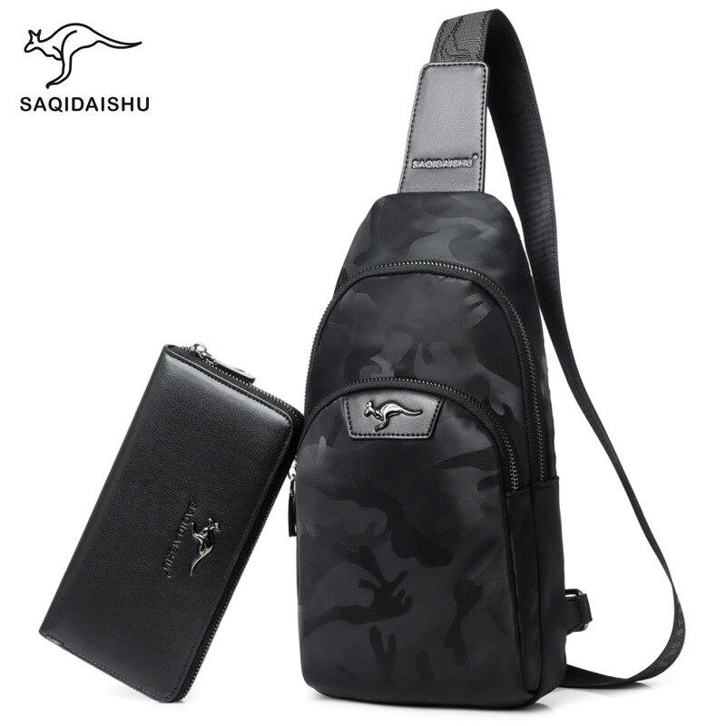 560517cc996 SAQIDAISHU Men s Fashion Retro PU Foot Leisure Travel Bag Shoulder  Messenger Bag Waterproof Wear Chest Harness Chest Pocket-in Waist Packs  from Luggage ...