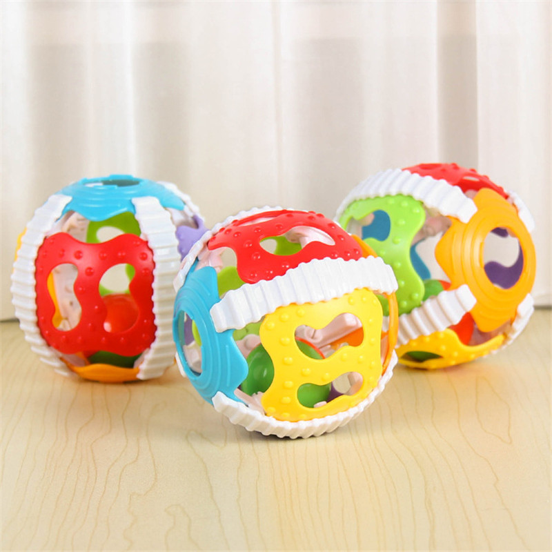 1pc Baby Rattle Toys Cute Fun Loud Gym Jingle Ball Hand Bell Crawling Balls Intelligence Grasping Kids Develop Toy 0-12 Months