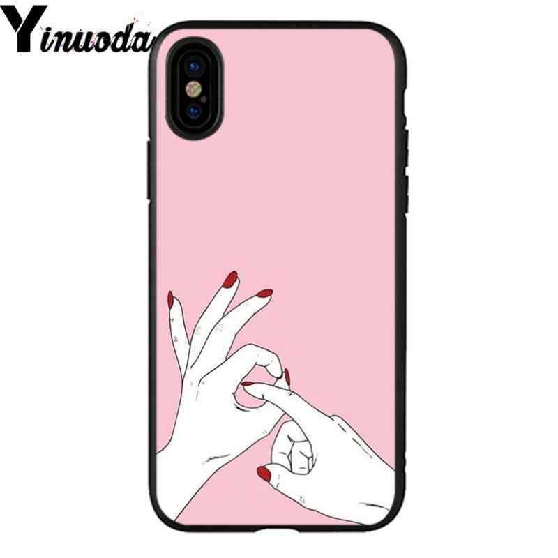 Yinuoda meilleur ami Shopping fille de luxe conception Unique couverture de téléphone pour iPhone X XS MAX 6 6 S 7 7 plus 8 8 Plus 5 5 S XR