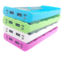 Candy Color 8X 18650 Case Power Bank Shell Case Portable LCD Display External 18650 Battery Box Charger DIY Box For iPhone