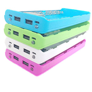 Image 1 - Candy Color 8X 18650 Case Power Bank Shell Case Portable LCD Display External 18650 Battery Box Charger DIY Box For iPhone