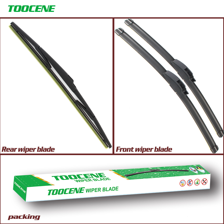 Front And Rear Wiper Blades For Toyota <font><b>Prius</b></font> 2003 2004 <font><b>2005</b></font> 2006 2007 2008 2009 Windshield Windscreen Wiper Auto Car Accessories image