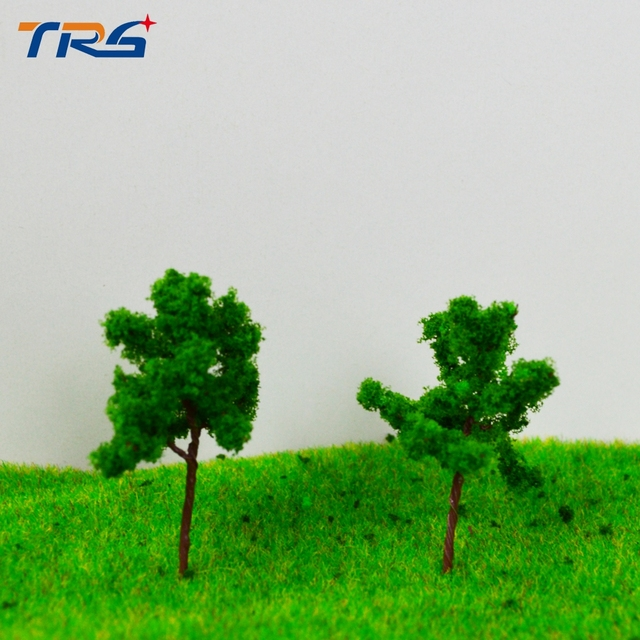 LR-3517 architectural model making building material TREES 35MM Architectural model tree,Scale Train Layout Set Model Trees