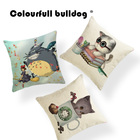Anime Owl Halloween Cushion Cover Animal Cat Pillow Case Childlike Lounger Chair Lumbar Support Throw Pillow Cover Large Linen