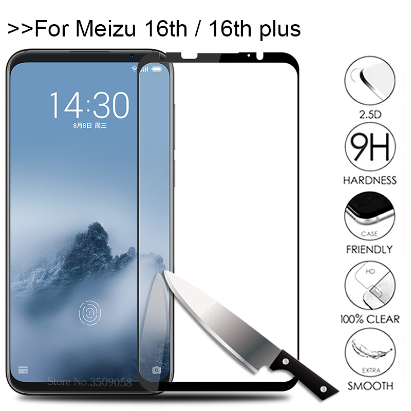 9 H Screen Protector For Meizu M16th Protective Glass On the Maisie Mezu M 16th 16Plus 16 th plus x Protection Glas Film Cover