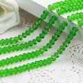 Frete Grátis! 5040 AAA Top Quality cor verde solta pérolas De Vidro Rondelle beads.2mm 3mm 4mm, 6mm, 8mm 10mm, 12mm