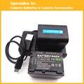 Eeyrnduy 2 unids np-fv70 batería $ number x cargador para sony np-fv70 fv30 hdr-cx230 hdr-cx150e hdr-cx170 cx300 np fv50 batería de la videocámara