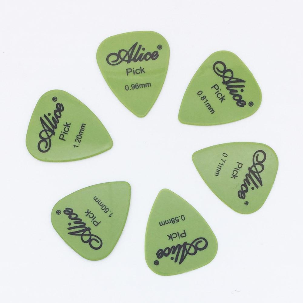 6 Stück Alice Gitarrenpicks in 1 Farbe in voller Dicke 0,58 0,71 - Musikinstrumente - Foto 4