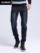 VOMINT Brand New Men Washed Jeans Skinny Fit Jeans men Robin Casual Stretch jeans Brand Large Size black blue jeans S6AJ019(China)