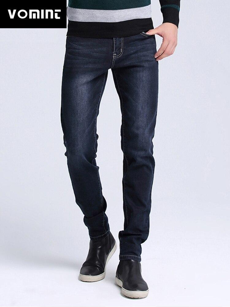 VOMINT Marque Nouveaux Hommes Lavé Jeans Skinny Fit Jeans hommes Robin Casual Stretch jeans Marque Grande Taille noir bleu jeans s6AJ019