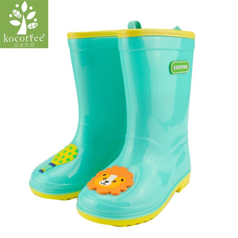 Kocotree niños primavera otoño bebé niño antideslizante niños lluvia botas de pvc de la manera del cabrito de calzado bota marca chica rosa botas de agua