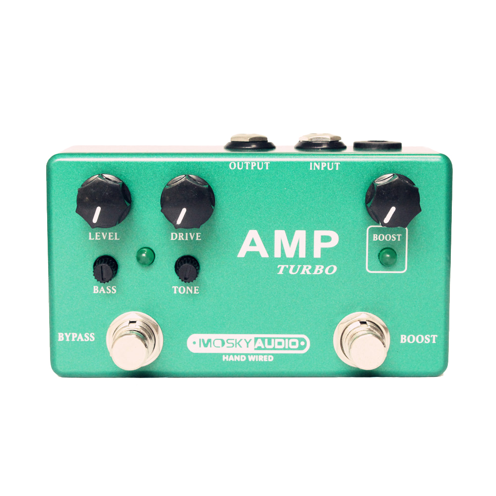 Moskyaudio AMP TURBO Guitar Effect Pedal Mini Effect Pedal with Overdrive and Boost Guitar Parts & Accessories mxr m133 micro amp gain boost pedal with level control led indicator and footswitch