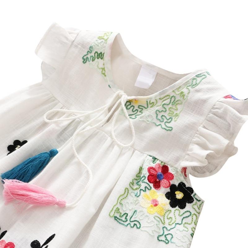 Girls Summer Dress Kids Clothes 2018 Embroidered Flower Baby Girl Dress Princess Dress baby girl clothes