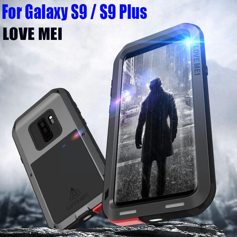 Pour SAMSUNG GALAXY S9 PLUS Original Lovemei résistant aux chocs en aluminium boîtier en métal pour Galaxy S9 S904