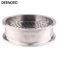 DERNORD Sanitary Filter Plate 6 Inch Tri clamp Stainless Steel 304 For Homebrew