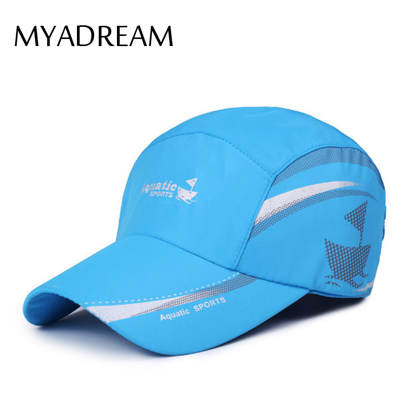 MYADREAM Patchwork Summer Ultra-thin Breathable Baseball Cap Women Outdoor Sport Quick Dry Hats for Men Bone Masculino Sun Caps sport style thin quick dry pocket design women s outdoor short