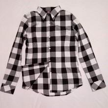2019 Hot Sale Autumn Winter Ladies Female Casual Cotton Lapel Long-Sleeve Plaid Shirt Women Slim Outerwear Blouse Tops Clothing