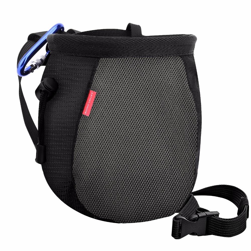 Chalk Bag,Rock Climbing Chalk Bag No Leak Strawstring Bag with Adjustable Belt and Carabiner for Climbing,Gymnast,Weight Lifting