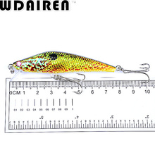 1PC 8cm 8.2g Floating Minnow Fishing Lure Artificial Hard Bait plastic lures river bass pike fish Wobbler Crankbait Pesca WD-41