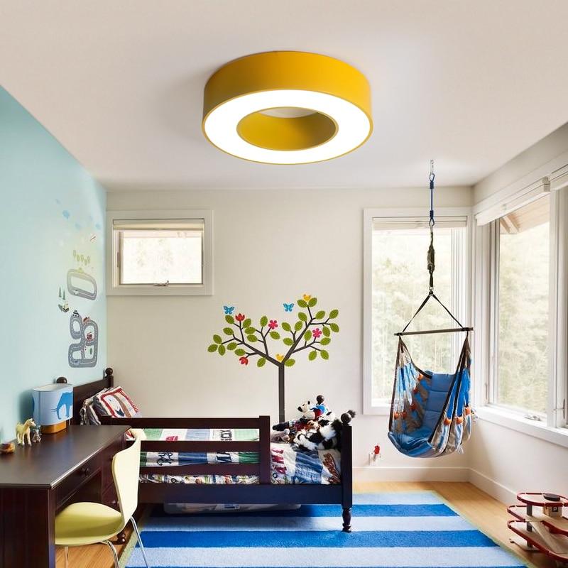 Office Hallway Children Lamp Color Garden Light Ceiling Ring Engineering Nursery Classroom Lighting ET83 In Lights From