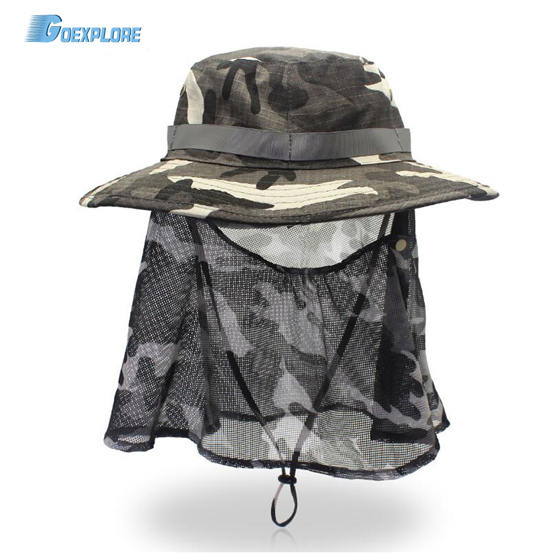 Goexplore Outdoor Hat Unisex Uv Protection Breathable Summer hiking Fishing Travel Protection Face Neck Cover Sun Protect Cap