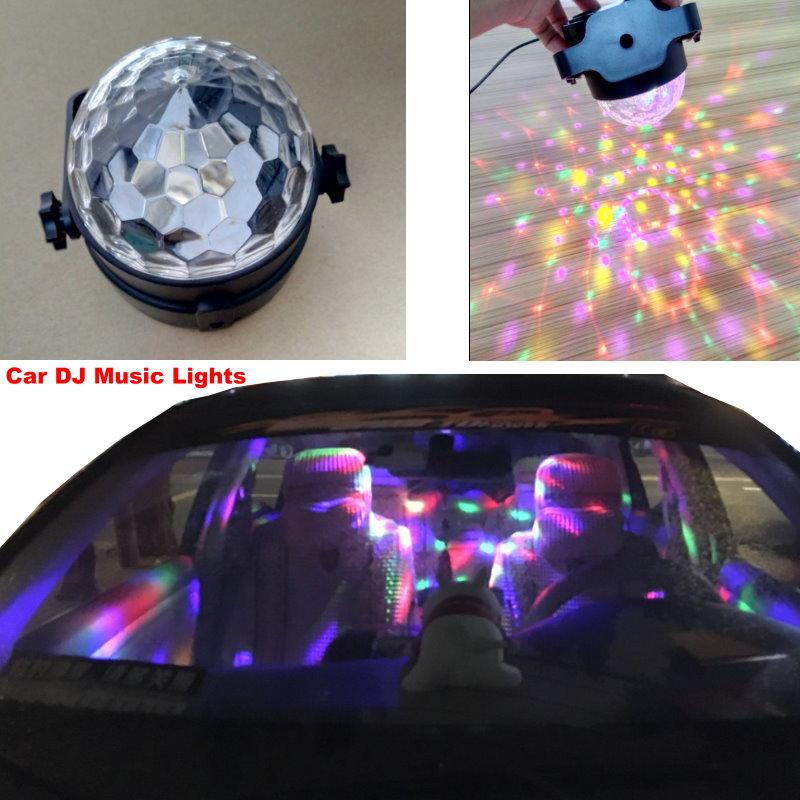 For Opel Astra / Corsa Meriva Tigra Car DJ Music Rhythm Lights LED Colorful Dynamic Atmosphere Lamp USB 5V