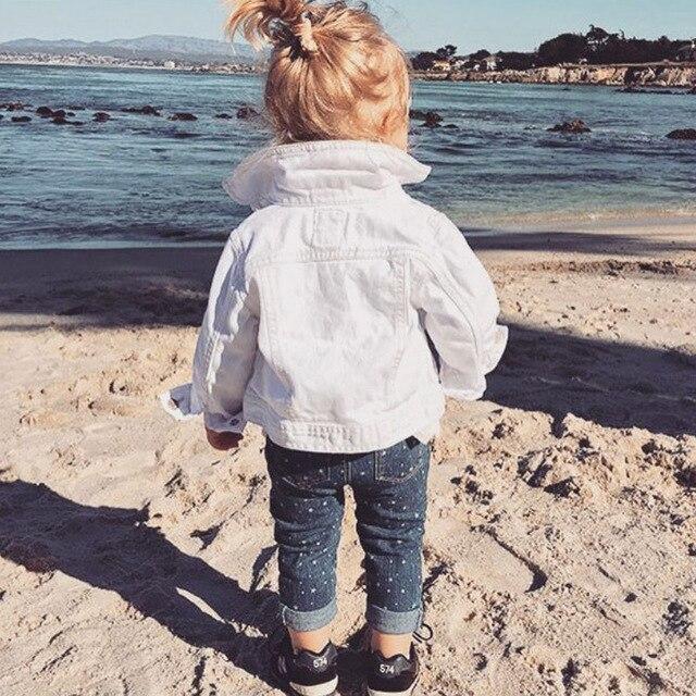 de8c1f604 Fashion Jean Jacket For Girls Denim Jackets Autumn Ripped Jeans Coat Boys  Denim Coat Children's Winter Jackets Infant Baby Coat