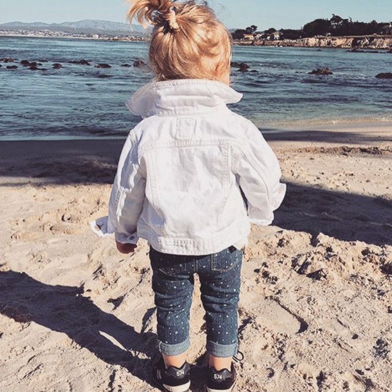 Fashion Jean Jacket For Girls Denim Jackets Autumn Ripped Jeans Coat Boys Denim Coat Childrens Winter Jackets Infant Baby Coat