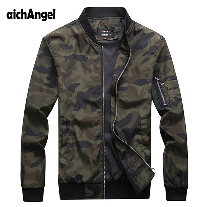 New Autumn Men's Camouflage Jackets Male Coats Camo Bomber Jacket Mens Brand Clothing Outwear Plus Size