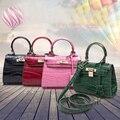Free shipping women evevning sac de marque mini  handbag crocodile PUleather fashion handbags Shoulder Messenger small bag