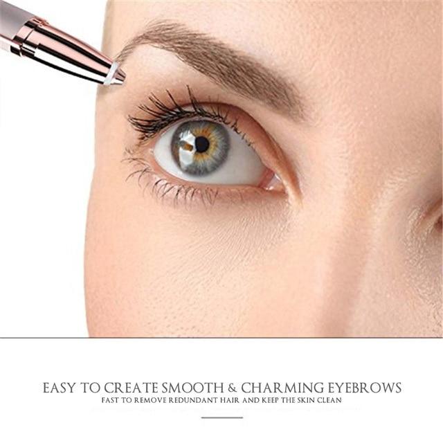 2019 NEW 1pc Electric Eyebrow Trimmer Mini Eye Brow Shaver Razor Facial Hair Remover Painless Epilator Wholesale & Dropshipping 3