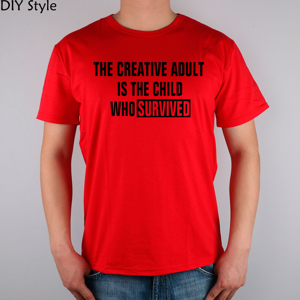 Creative Adult Is The Child Quote Funny T Shirt Cotton