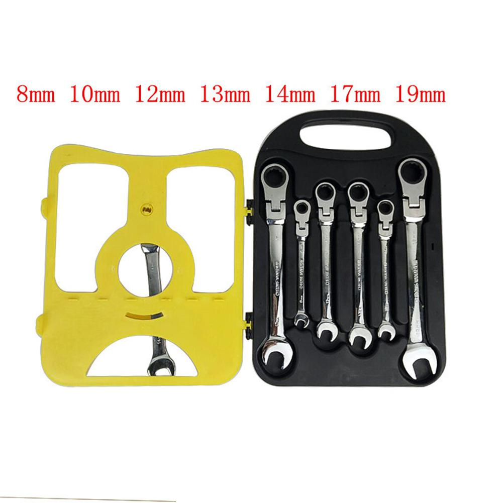LanLan 7Pcs/Set Auto Flexible Head Sleeve Combination Tool Ratchet Handle Wrench Spanner Set of Hardware Car Repair Hand ToolsLanLan 7Pcs/Set Auto Flexible Head Sleeve Combination Tool Ratchet Handle Wrench Spanner Set of Hardware Car Repair Hand Tools