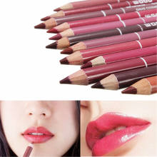 1Pcs Cosmetic Professional Wood Lipliner Waterproof Lady Charming Lip Liner Soft Pencil Contour Makeup Lipstick Tool Dropship(China)