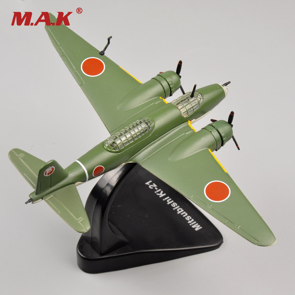 cheap children toys 1/144 scale WWII alloy diecast fighter Mitsubishi Ki-21 airplane aircraft model kids birthday gifts image