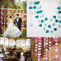 Творческий 4 м Красочные Сердца Бумаги Баннер Chic Party Свадебные Украшения Ручной Работы Детская Комната Стены Завесы Реквизит Украшения