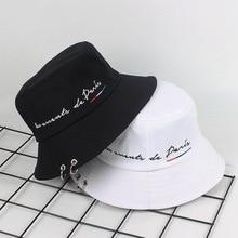 Fashion Summer Bucket Hat Women Bob Hip Hop Caps Gorros Embroidery Letter Unisex Cotton Caps Man Beach Sun Fishing Bucket Hat