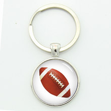 9e6fe87c0 American Basketball key chain classic baseball picture print round glass  alloy keychain sports events team gift