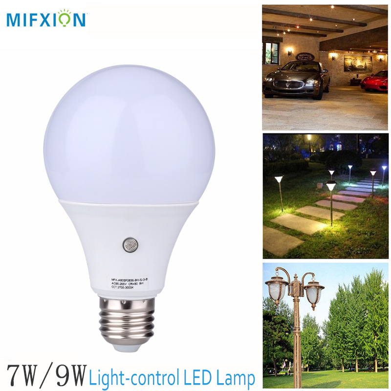 MIFXIN 7W/9W E27 LED Sensor Light Bulb Auto light-control LED Lamp Bulb Automatic Light sensor energy-saving Led Light Bulb ct4 22mm energy monitoring sensor clamp