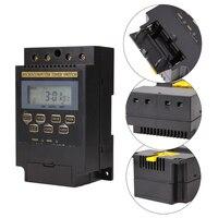 Interruptor eletrônico digital  temporizador eletrônico digital com trilho din ac220v 25a  temporizador eletrônico programável digital lcd  controle KG316T-II